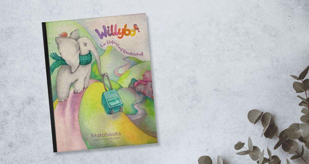 Kinderbuch von Matabooks Willybo, Ein Elefant auf Wanderschaft