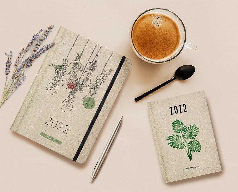 vegane Jahresplaner aus Graspapier von Matabooks